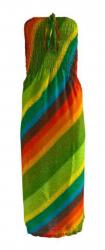 Bandeau Kleid Regenbogen