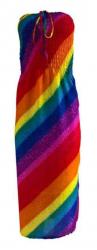 Regenbogen Bandeau Kleid