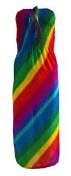 Mehrfarbiges Bandeau Kleid