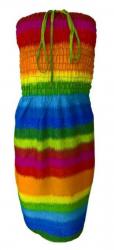 Kurzes Strandkleid Regenbogen