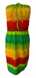Regenbogen Strandkleid kurz