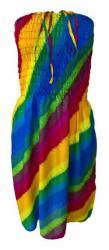 Regenbogen Sommerkleid kurz