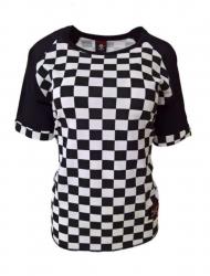 Rockabella Shirt Schachmuster Weiß
