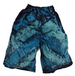 Batik Shorts Blau