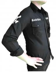 Schwarzes Hemd Rock'n'Roll