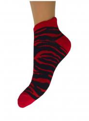 Sneakersocken Zebra Rot