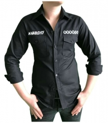 Schwarzes Hemd Anarchie Symbol