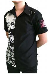 Schwarzes Hemd Totenkopf