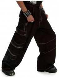 Hardstyle Hose mit Weißen Nähten