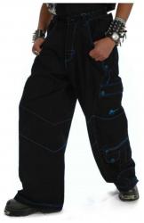 Hardstyle Hose mit Blauen Nähten
