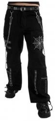 Punk Rave Hose Spinnennetz Weiß