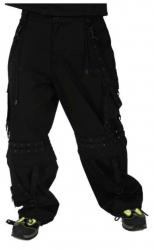 Schwarze Punkrave Hose mit Nieten