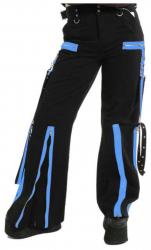 Raver Trousers with Bondage Straps Blue