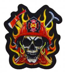 Aufnäher Feuerwehr Totenkopf