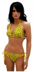 Gelbe Badebekleidung Zweiteiler für Damen