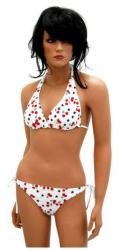 Bikini mit Kirschen Weiß