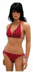 Neckholder Bikini Spinnennetz Rot