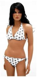 Weißer Bikini Totenköpfe