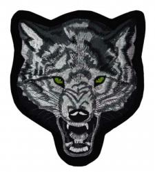 Gestickter Aufnäher Böser Wolf