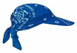 Blaues Paisley Muster auf Chemo Kopfbedeckung