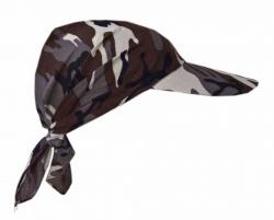 Sun Protection Cotton Bandana with Camouflage Design