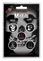 Button Set - Misfits Skull