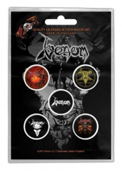 Button Set - Venom Black Metal