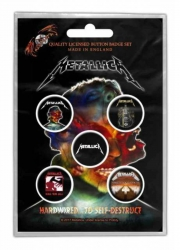 Button Set - Metallica Hardwired To Self Destruct