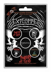 Button Set - The Exploited Punks Not Dead
