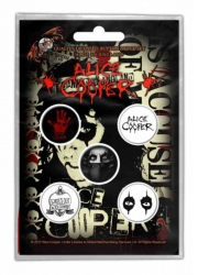Button Set - Alice Cooper Eyes