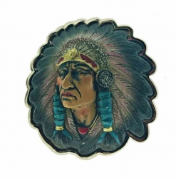 Gürtelschnalle Indianer Kopf Häuptling