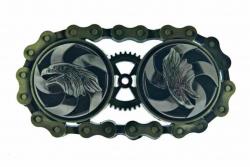 Western Gürtelschnalle Steampunk | Rotierende Adler