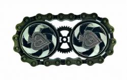 Gürtelschnalle Steampunk | Rotierendes Pik As