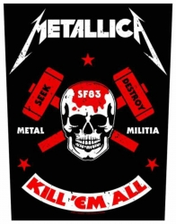 Metallica Metal Militia Backpatch