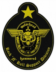 Patch Motörhead Support Division Cut Out Aufnäher