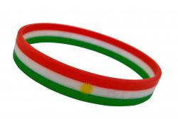Silikonarmband Kurdistan