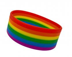 Silikonarmband Regenbogen