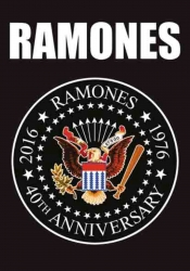 Posterfahne Ramones 40th Anniversary Logo