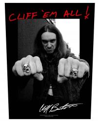 Cliff Burton Rückenaufnäher Cliff 'em all