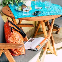Trendy XL Bandana Paisley Babyblau