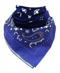 Trendy XL Bandana Paisley Royalblau