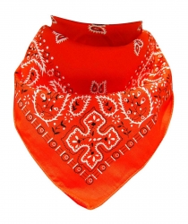 XL Bandana Scarf Paisley Orange