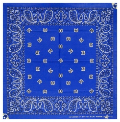 Trendy XL Bandana Paisley Blau