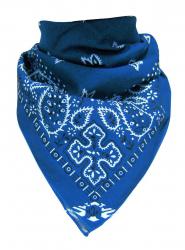 Trendy XL Bandana Paisley Hellblau