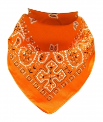 XL Bandana Scarf Paisley Light Orange