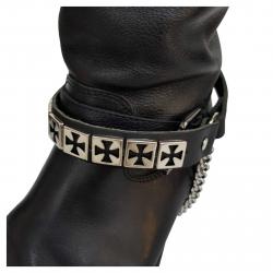 Stiefelbänder mit Eisernen Kreuz Nieten