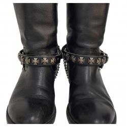 Stiefelbänder Schwarz mit Eisernem Kreuz