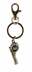 Whistle Keychain with Skull