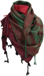 Original Afghanistan Kufiya Scarf- Black Red Green