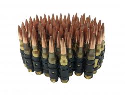 Munitionsgürtel mit Spitzen aus Messing